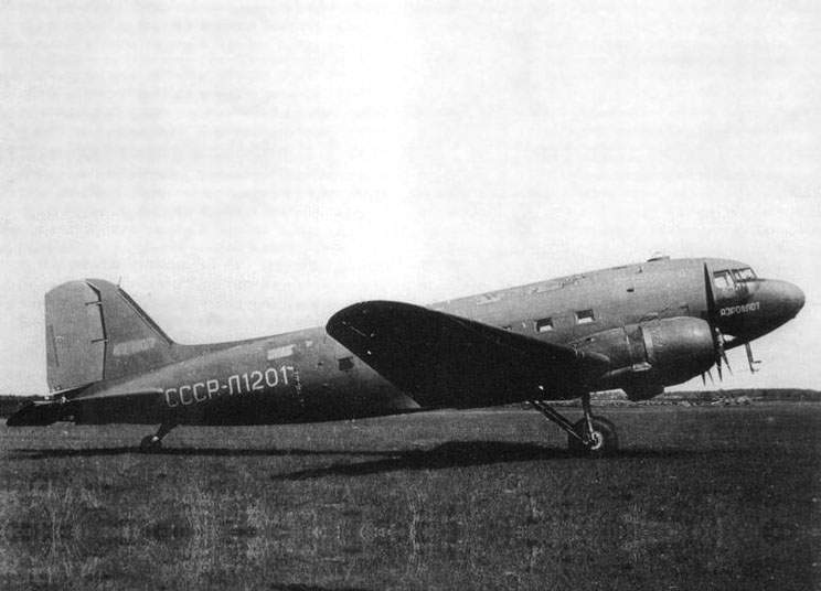 The TC-82 - the DC-3 with russian engines ASh-82FN