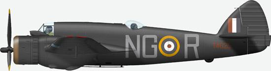 Bristol Beauifighter IF # NG R (T4625) from 604 Sqn, RAF