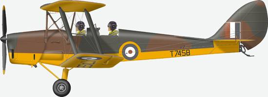 Tiger Moth #T7458 of 317 (Polish) Squadron
