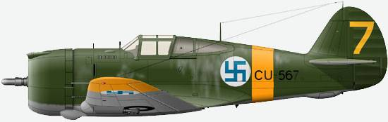 Curtiss Hawk-75 from structure LeLv 32 air forces of Finland, August, 1941