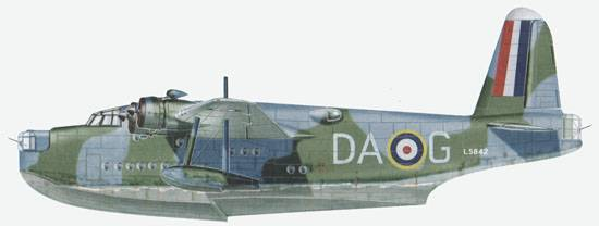 Sunderland Mk. I from 210-th Sqdn of Coast command RAF at spring  1942.