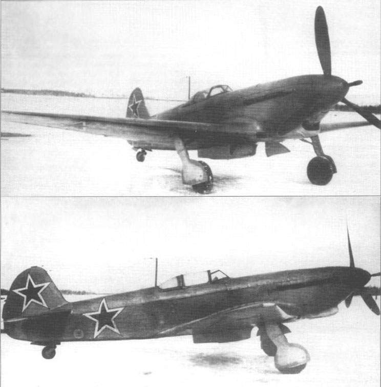 The Yak-9K during flight test in the NII VVS