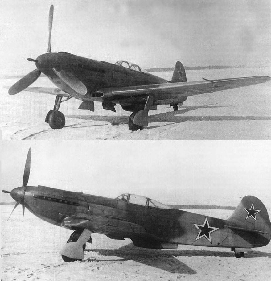 Above and below: The same Yak-9UT c/n 40166022 on a snow-covered airfield during State acceptance trials