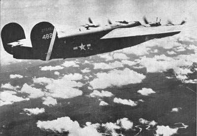 The B-24J-50-CO, 42-73482, of the 43rd Group's 64th Squadron.