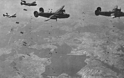 The 467th Bomb Group  over Dole, France, on August 14, 1944.