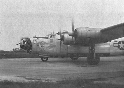 A Pathfinder B-24 from the 93rd Group's 329th Squadron.