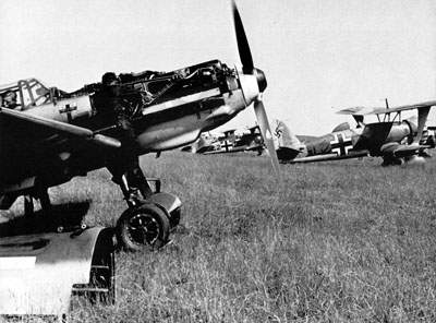 The Bf 109 from III/JG 27,  an engine adjustment on the ground.