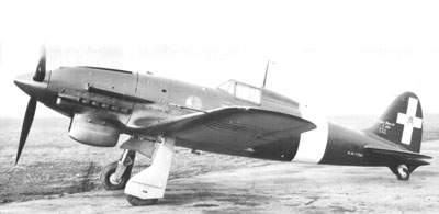 The sole Macchi C.202D, M.M.7768, as fitted with a chin radiator.