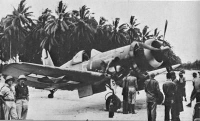 Navy F4U-1A пилотируемым Lt. [JG] Tom Killefer из VF-17, март 5, 1944.