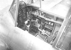 The Defiant cockpit