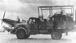 A crew truck taking No. 264 Squadron