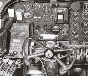 Northrop P-61 Black Widow, cockpit