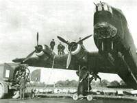 Refueling a Stirling I, October 1941