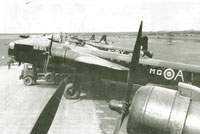 Stirling Is of No.7 Squadronn lined up at Oakington, March 1942