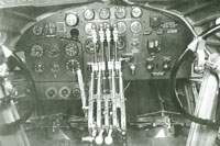 Pilots controls and instruments on Mark I