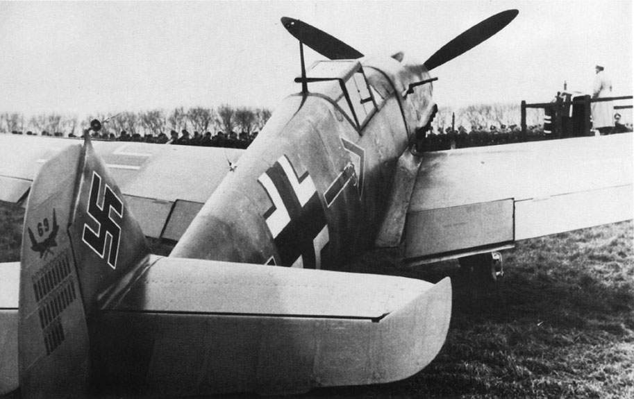 Bf-109F-2 of JG 26 Adolf Galland during an inspection tour in December 1941