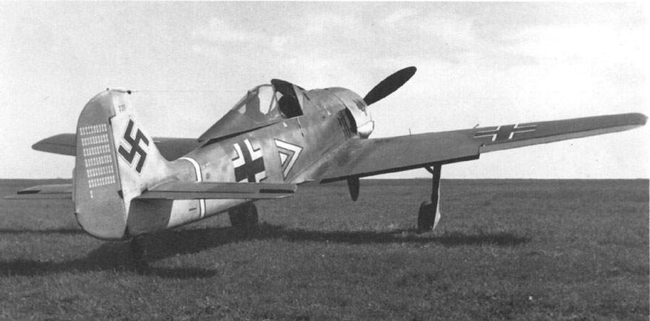 Fw 190 A-3, W Nr 223 in Beaumont le Roger, France.