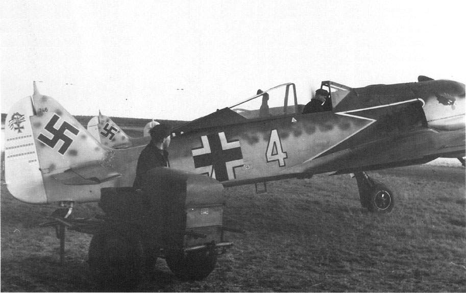 Fw 190A-4, W Nr 764, 'Yellow 4' of Siegfried Schnell of 9./JG 2.