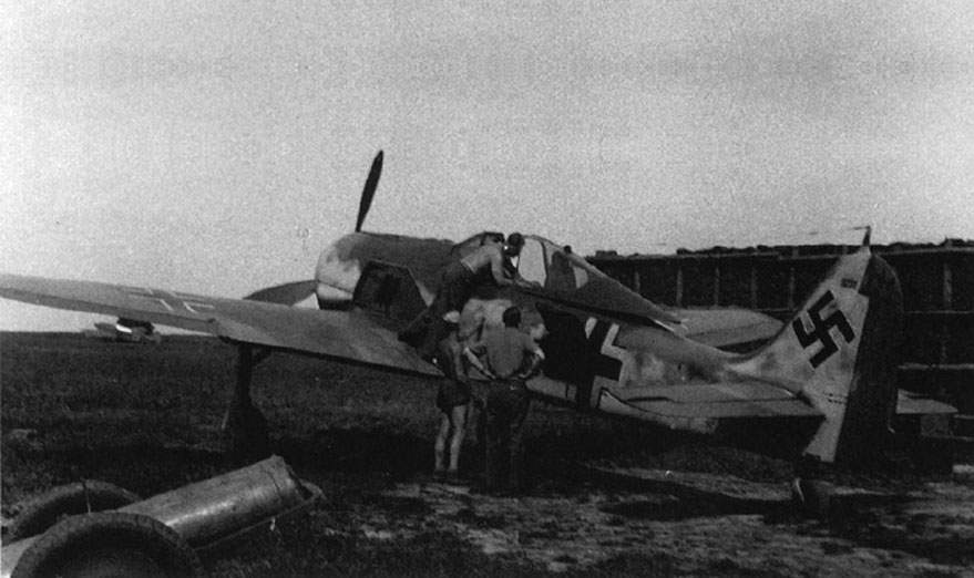 Fw 109A-5 W Nr 1230, 'Green 13' flown by Walter Oesau, at Beaumont le Roger, France, around 1943.
