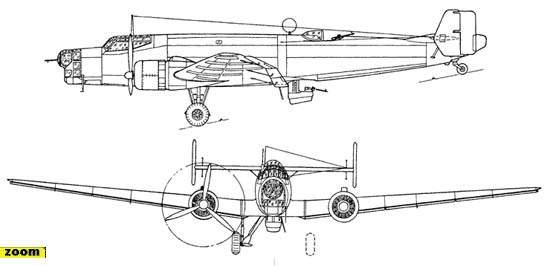 Схема Ю-86К.