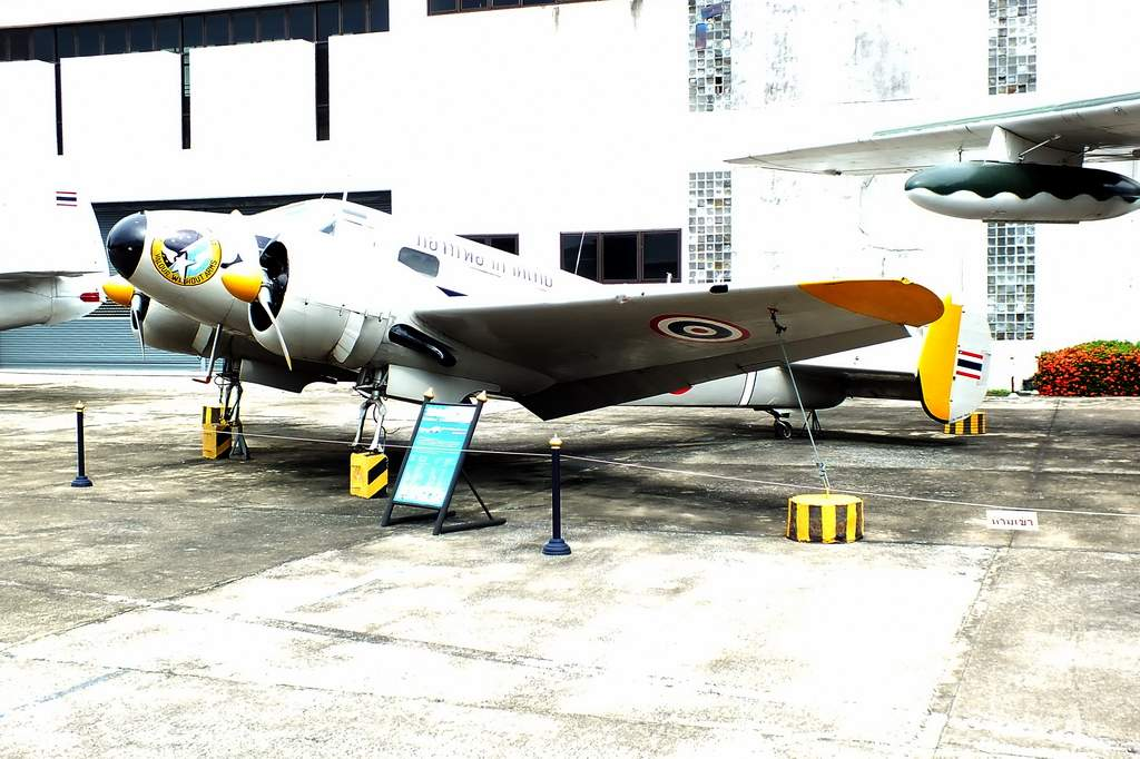 Beech 18 (Beechcraft model 18). Royal Thai AF Museum.