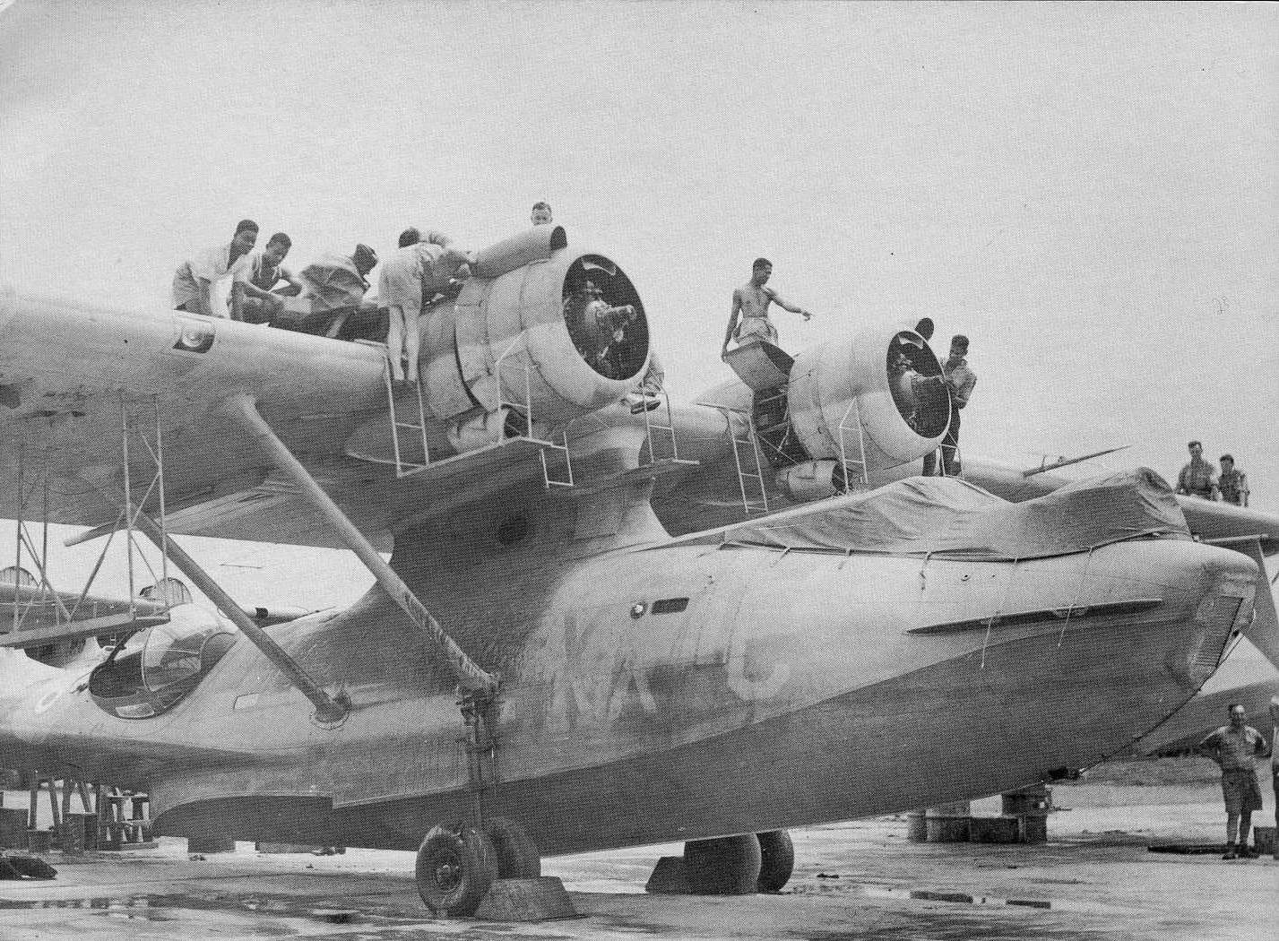 PBY5 Catalina flying boat from No. 6 Squadron being