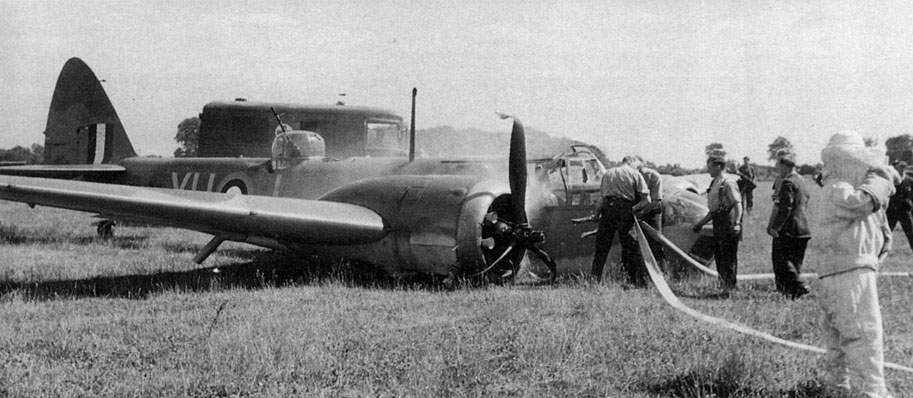 Blenheim IV Z7432/YH:J of No 21 Squadron at Watton on 6 July 1941
