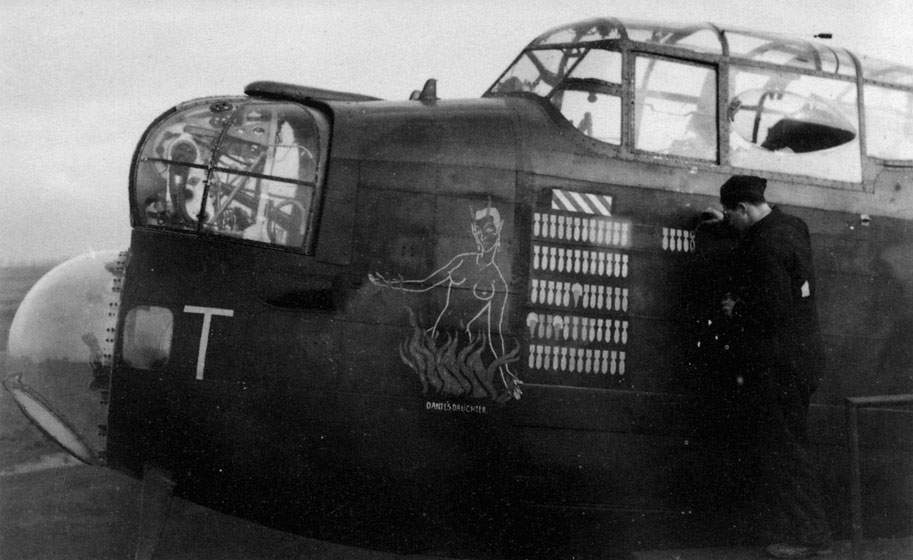 Lancaster ED731/AS:T2 of No 166 Squadron