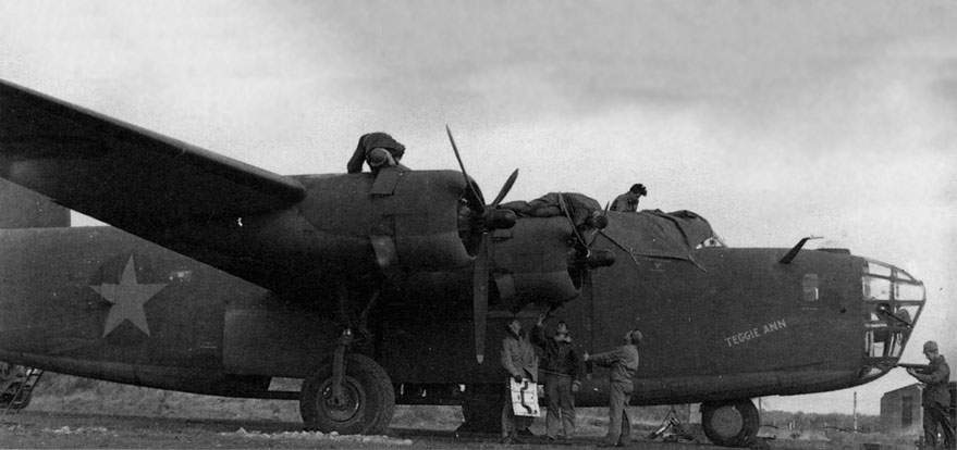 Liberator B-24D 'Teggie Ann', 123754 under service at Alconbury