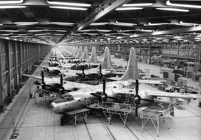 TB-32s being assembled at Consolidated`s Fort Worth factory